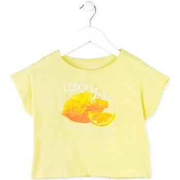 Textil Dívčí Trička s krátkým rukávem Losan 714 1211AB Žlutá