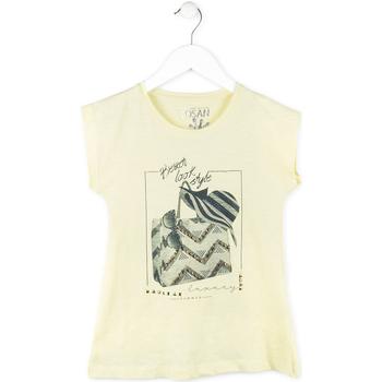 Textil Dívčí Trička s krátkým rukávem Losan 714 1212AB Žlutá