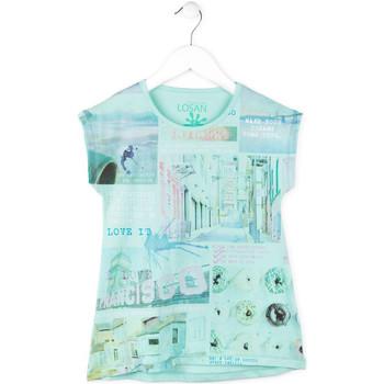 Textil Dívčí Trička s krátkým rukávem Losan 714 1215AB Modrý