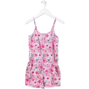 Textil Dívčí Overaly / Kalhoty s laclem Losan 714 7008AB Růžový