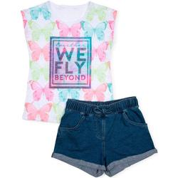 Textil Dívčí Set Losan 714 8006AB Bílý