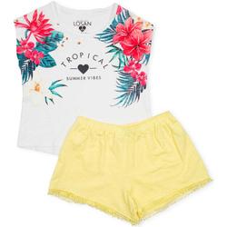 Textil Dívčí Set Losan 714 8015AB Bílý