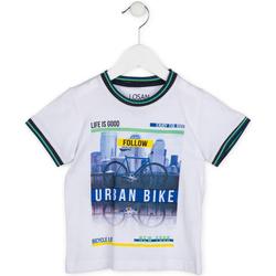 Textil Chlapecké Trička s krátkým rukávem Losan 715 1013AC Bílý