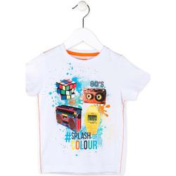 Textil Chlapecké Trička s krátkým rukávem Losan 715 1023AC Bílý