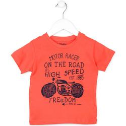 Textil Děti Trička s krátkým rukávem Losan 715 1215AC Oranžový