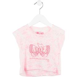 Textil Dívčí Trička s krátkým rukávem Losan 716 1011AD Růžový