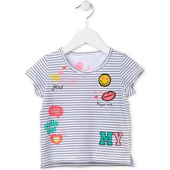 Textil Dívčí Trička s krátkým rukávem Losan 716 1033AD Bílý