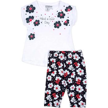 Textil Dívčí Set Losan 716 8012AD Bílý