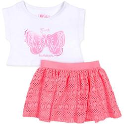 Textil Dívčí Set Losan 716 8016AD Bílý