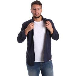 Textil Muži Košile s dlouhymi rukávy Antony Morato MMSL00408 FA400047 Modrý
