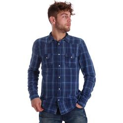 Textil Muži Košile s dlouhymi rukávy Gaudi 721BU46005 Modrý