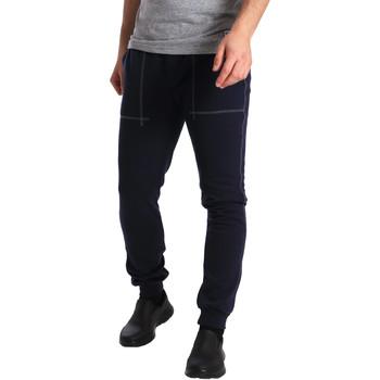 Textil Muži Teplákové kalhoty Key Up SF19 0001 Modrý