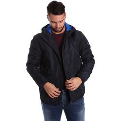 Textil Muži Prošívané bundy Ea7 Emporio Armani 6YPB34 PN02Z Modrý