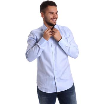 Textil Muži Košile s dlouhymi rukávy Gmf 972903/02 Modrý