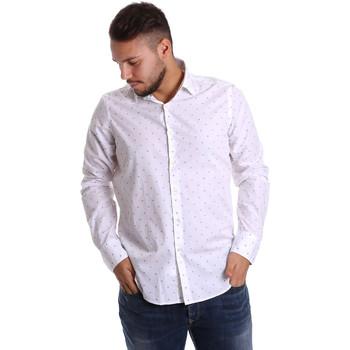 Textil Muži Košile s dlouhymi rukávy Gmf 972156/03 Bílý