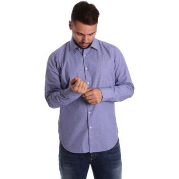Textil Muži Košile s dlouhymi rukávy Gmf 972160/04 Modrý