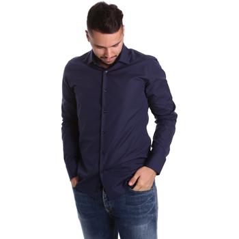 Textil Muži Košile s dlouhymi rukávy Gmf 972900/04 Modrý