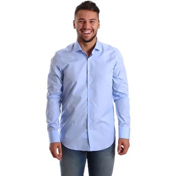 Textil Muži Košile s dlouhymi rukávy Gmf 972900/03 Modrý