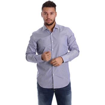 Textil Muži Košile s dlouhymi rukávy Gmf 972906/04 Modrý