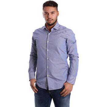 Textil Muži Košile s dlouhymi rukávy Gmf 972908/04 Modrý