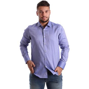 Textil Muži Košile s dlouhymi rukávy Gmf 972103/05 Modrý