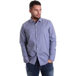 Textil Muži Košile s dlouhymi rukávy Gmf 972144/01 Modrý