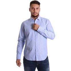 Textil Muži Košile s dlouhymi rukávy Gmf 972158/01 Modrý
