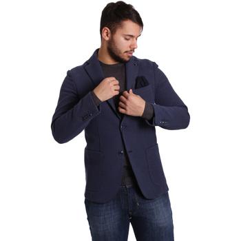 Textil Muži Saka / Blejzry Sei3sei PZG9 7290 Modrý