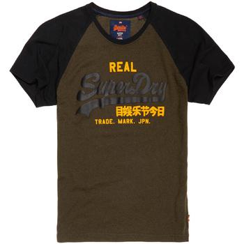 Textil Muži Trička s krátkým rukávem Superdry M10008HPF1 Černá