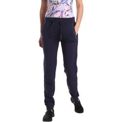 Textil Ženy Teplákové kalhoty Key Up GE42 0001 Modrý