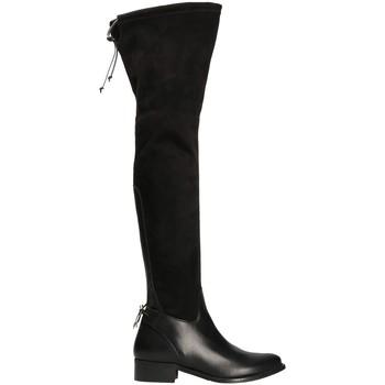 Boty Ženy Vysoké kozačky nad kolena Mally 6077-1 Černá
