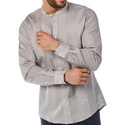 Textil Muži Košile s dlouhymi rukávy Gaudi 811BU45012 Šedá
