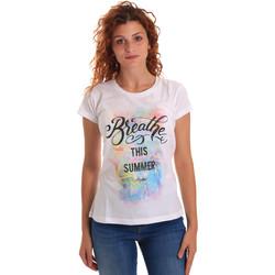 Textil Ženy Trička s krátkým rukávem Key Up 5D59S 0001 Bílý