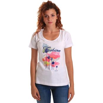 Textil Ženy Trička s krátkým rukávem Key Up 5D58S 0001 Bílý