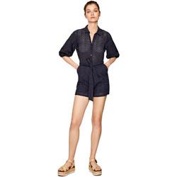 Textil Ženy Overaly / Kalhoty s laclem Pepe jeans PL230294 Modrý