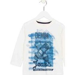Textil Děti Trička s dlouhými rukávy Losan 725 1000AC Bílý