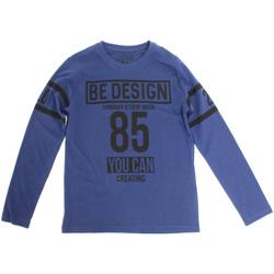 Textil Děti Trička s dlouhými rukávy Losan 723 1203AA Modrý