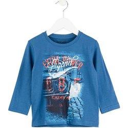 Textil Děti Trička s dlouhými rukávy Losan 725 1203AC Modrý
