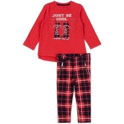 Textil Dívčí Set Losan 726 8013AD Červené