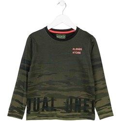 Textil Děti Trička s dlouhými rukávy Losan 723 1013AA Zelený