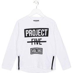 Textil Děti Trička s dlouhými rukávy Losan 723 1010AA Bílý