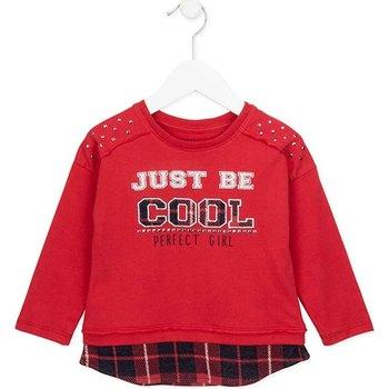 Textil Dívčí Mikiny Losan 726 1026AD Červené