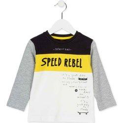 Textil Děti Trička s dlouhými rukávy Losan 725 1018AC Bílý