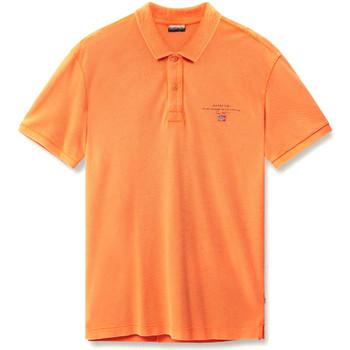 Textil Muži Polo s krátkými rukávy Napapijri N0YIJ5 Oranžový