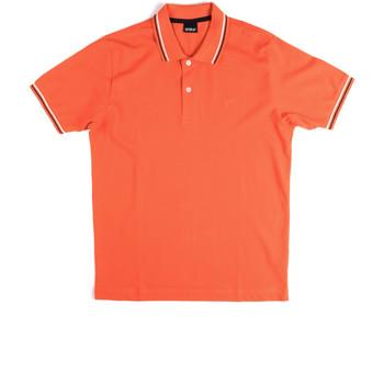 Textil Muži Polo s krátkými rukávy Key Up 2Q70G 0001 Oranžový