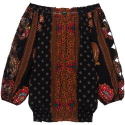 Textil Ženy Halenky / Blůzy Desigual 19WWBW23 Černá