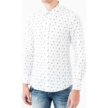 Textil Muži Košile s dlouhymi rukávy Antony Morato MMSL00425 FA430306 Bílý