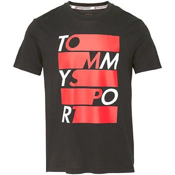 Textil Muži Trička s krátkým rukávem Tommy Hilfiger S20S200052 Černá