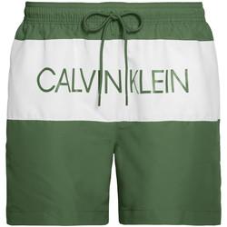 Textil Muži Plavky / Kraťasy Calvin Klein Jeans KM0KM00456 Zelený