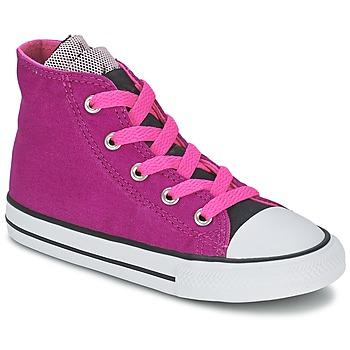 Boty Dívčí Kotníkové tenisky Converse ALL STAR PARTY HI Růžová
